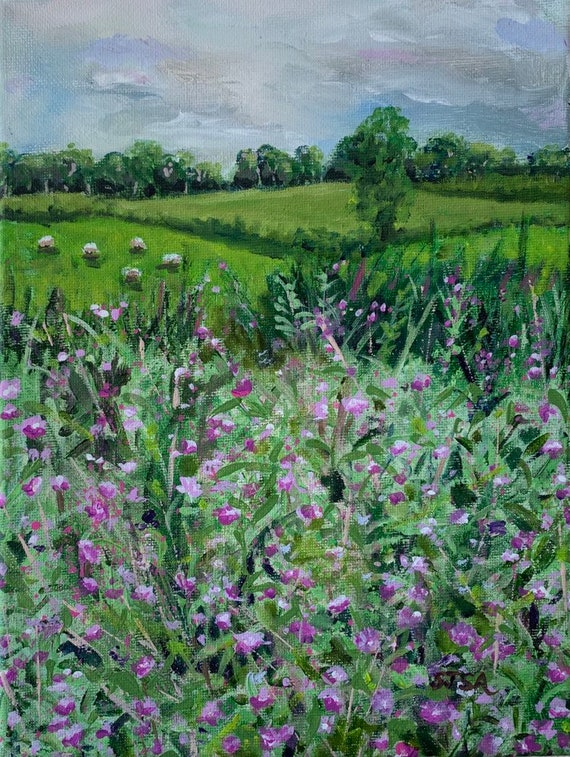 Irish Afternoon: Digital Print of Original Painting in Acrylics