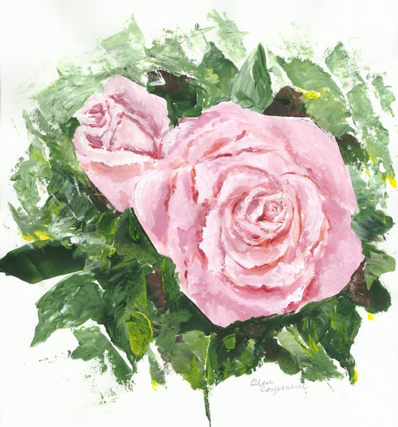 Roses on White Original Art