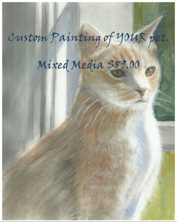 Custom Cat or Dog Portraits