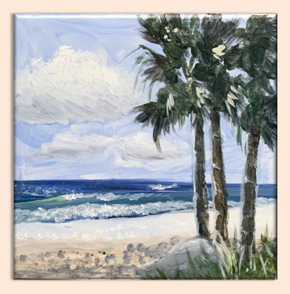 Three Palms Art Tile