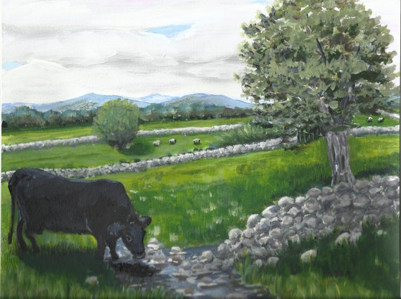 "Original Painting 8.5"" x 11.5""--Ireland Inspiration #1"