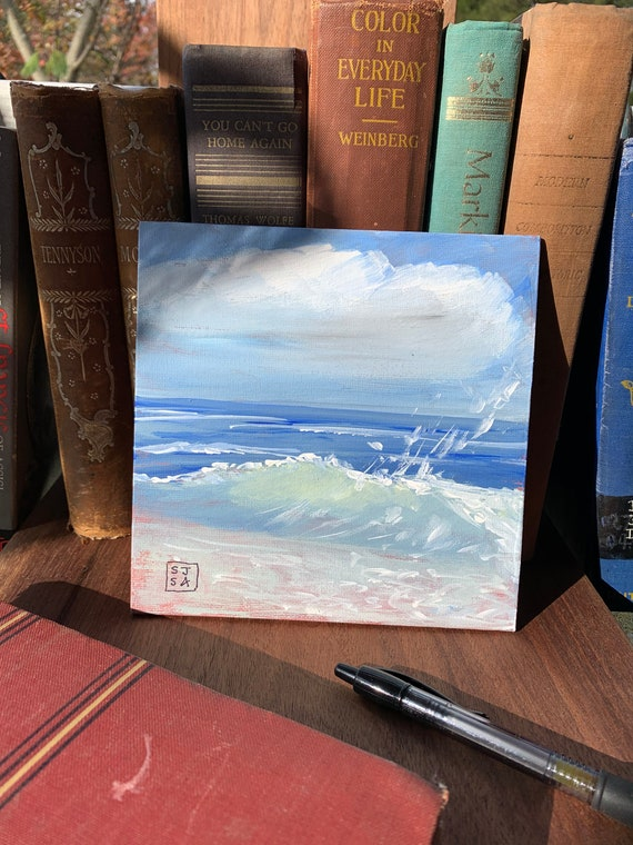 By The Sea--Small Painting on Canvas Panel