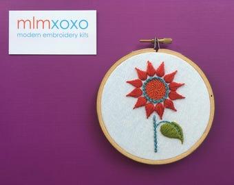 Modern Embroidery Kits Hoop Art Pure Wool Felt Cases By Mlmxoxo