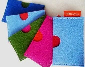 Wallet / Card Case in pure wool felt