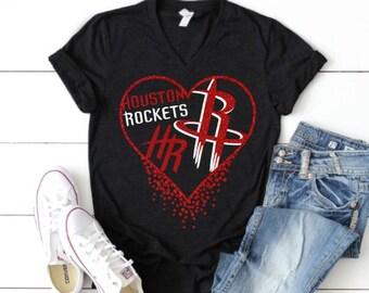 72f21d7513d Houston Rockets Glitter Heart Shirt