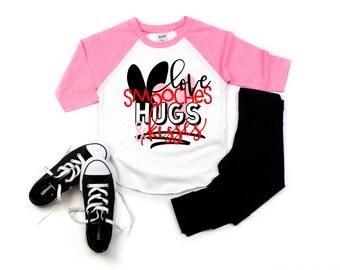 Girls Valentines Day Shirt Etsy