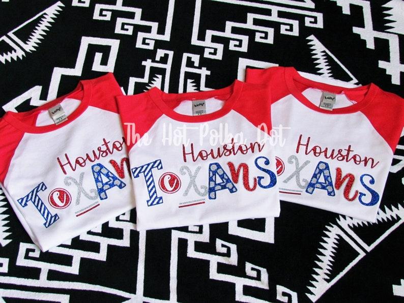 the best attitude 90d24 217d4 Kids and Women Houston Texans Shirt, Houston Texans Raglan Red Sleeve  Baseball Raglan, Texans Tailgate, Mom & Daughter Matching