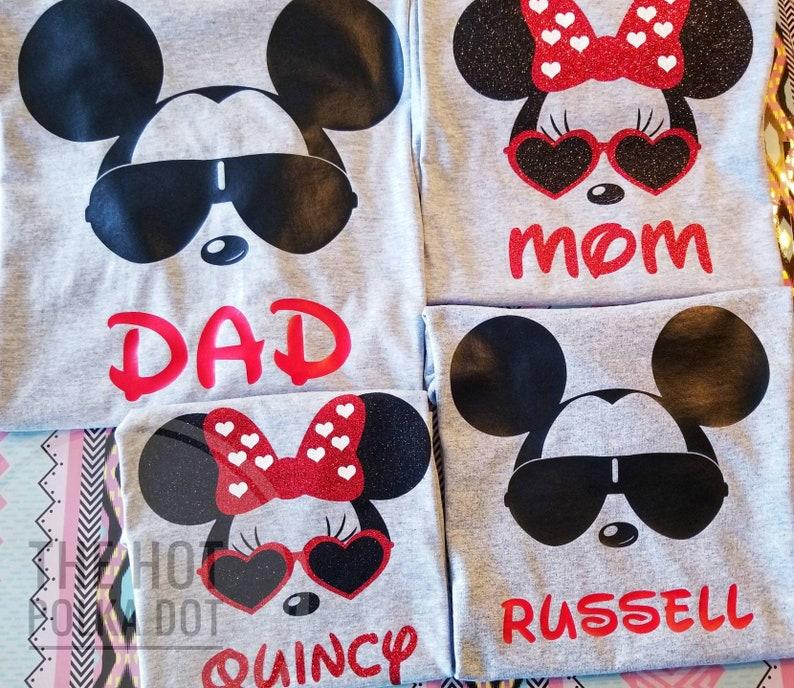 ccd9b481 4 Matching Disney Family Shirts Cool Minnie and Mickey Disney | Etsy