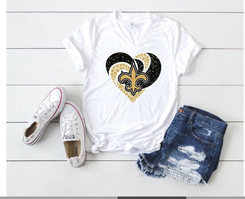 9939c2c6 New Orleans SAINTS Diamond Heart, Saints Bling Shirt, Cute Saints Shirt or  Tank, Choose Shirt Style, Tank, Flowy Tank, Tshirt, New Orleans