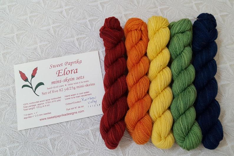 Sweet Paprika Elora Mini Skein Sets Rainbow Valley
