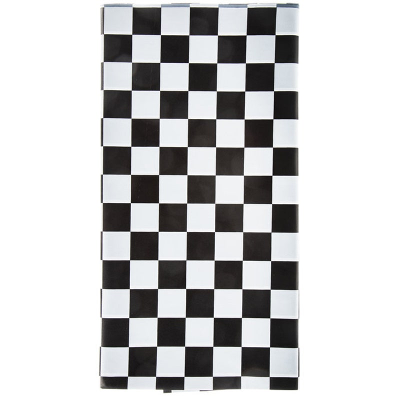 Race Car Tablecloth   Race Car Party, Racing Birthday Party, Car Party, Car  Baby Shower, Dirt Bike Party, Checkerboard, Checkered Tablecloth