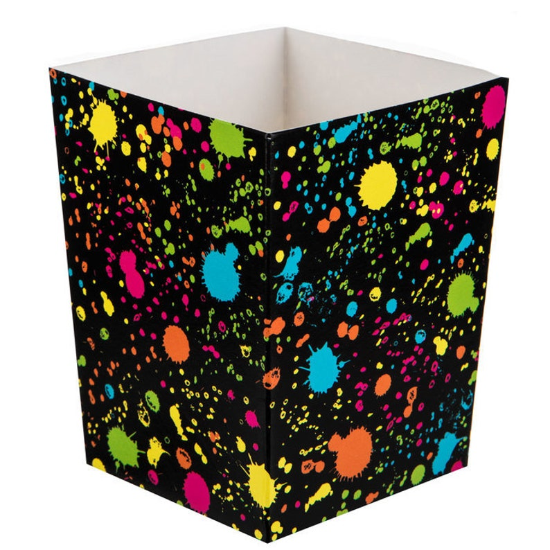 Let/'s Glow Crazy Party Supplies Glow Party Favor Boxes Splatter Painting Birthday Glowing Neon Party Supplies Glow in the Dark Supplies