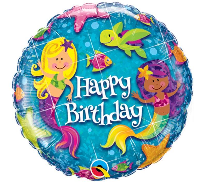 Mermaid Theme 1st Bday Ocean Theme Ocean Party 18 Happy Birthday Mermaid Balloon Mermaid Decor Mermaid Party Under the Sea Party