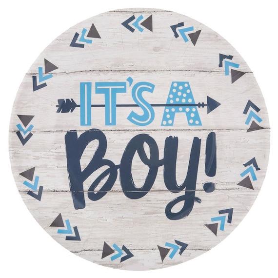 Italian Boy Name: It's A Boy Dinner Or Dessert Plates 10 Pack Baby