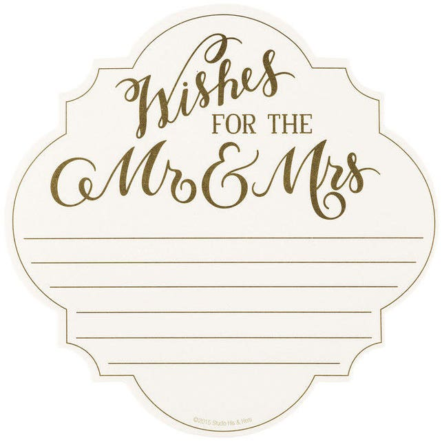 Advice and Wedding Wishes Notepad For The Mr & Mrs Advice Cards, Pad of 75 - Newlyweds, Bridal Shower, Bridal Party, Words of Wisdom