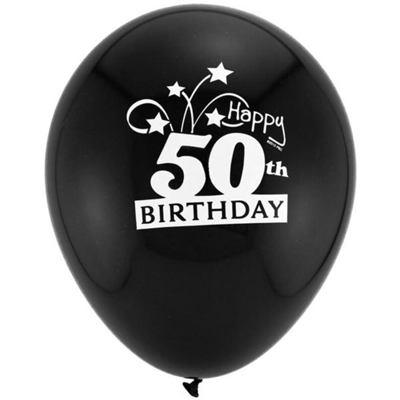 11 50th Birthday Balloons 8 Pack Milestone