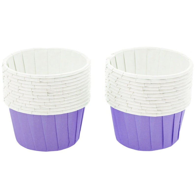 Party Cup Treat Cups Purple Paper Snack Cups Nut Cups Condiment Serving Birthday Favor Cups Paper Candy Cups Baking Cups 24 Pack