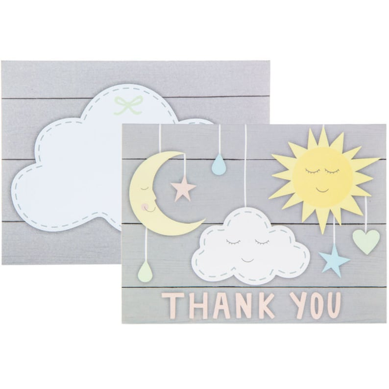 Moon Baby Shower Sun /& Moon Thank You Cards Twinkle Party Supplies Moon Party Celestial Party Theme Twinkle 1st Birthday Theme