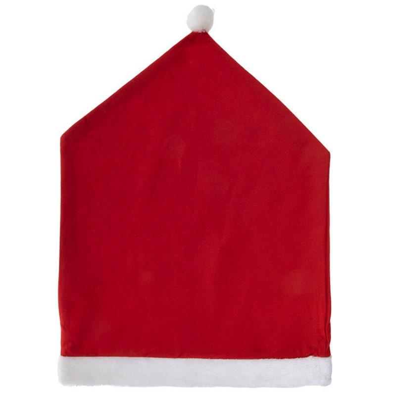 Christmas Chair Covers Company Christmas Party Christmas Party Supplies Santa Hat Chair Covers Santa Claus Lane Theme Christmas Decor