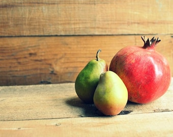 Pomegranate and Pears - Fine Art Photograph