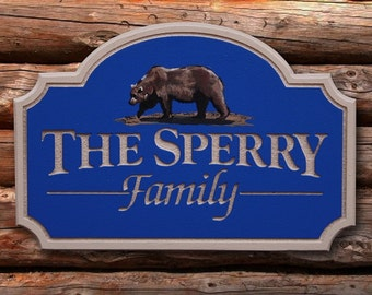 Custom Personal Name Sign Outdoor Sign office home decor housewares sign custom sign custom name sign painted sign name sign cabin sign