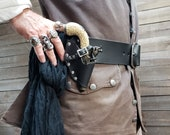 Black Leather Holster for Deringer or Small Replica and Firing Pirate Pistols