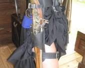 Leather Flintlock Leg Holster / Black Powder