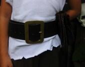 Children's 2 1/2 Inch Genuine Leather Pirate Belt