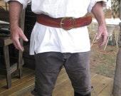3 Inch Woodgrain Leather Pirate Belt