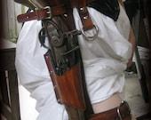 Woodgrain Brown Leather Leg Holster