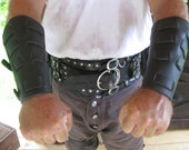 Weaved Leather Bracers / Vambraces Game of Thrones inspired Garb