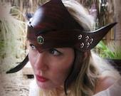 Deluxe Leather Elven Crown/ Headpiece/ Dark Elf