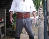 6 1/2 Inch Pirate Leather Warrior Belt / Barbarian Belt Game of Thrones Inspired Garb