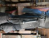 Dredmors 3 Inch Black Leather Ring Weaved Belt Game of Thrones Garb