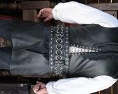 Dredmor's Signature Black Weaved Warrior Belt with Rings Game of Thrones Garb