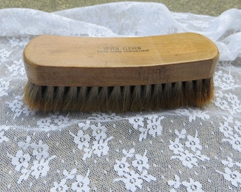 158a74c32e6 Vintage Horse Hair Brush Seven Eleven Pure Horse Hair Clothing or Shoe Brush  Long Wood Grooming Brush Horse Hair Seven Eleven Brand