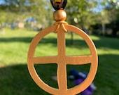 Golden Sunwheel Amulet (Heathen Pagan Celtic Native American Asian)