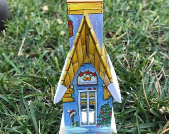 Incense Burner Houses, tall (Shamanism Spiritual Cleansing Germany)