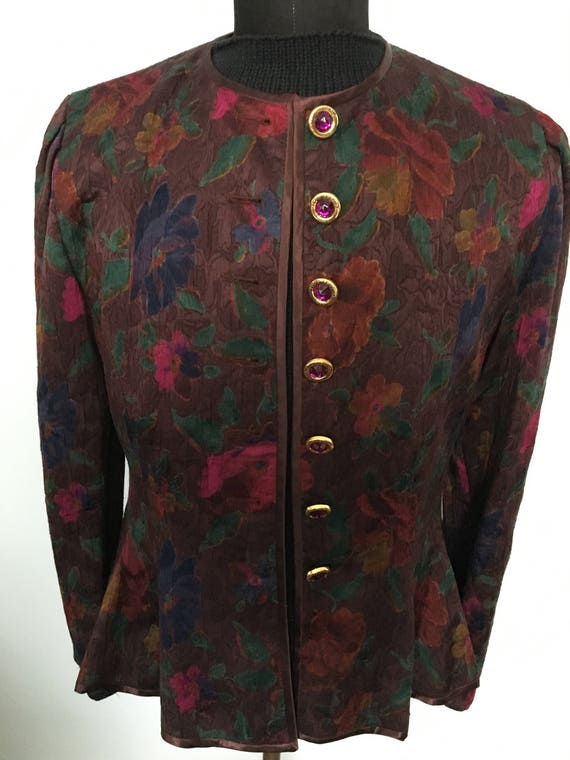 "Vintage 1980's ""Louis Feraud"" Dress Jacket  with o"