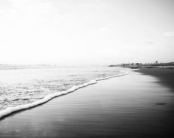 Black And White Beach Photography Ombre Grey White Black Etsy