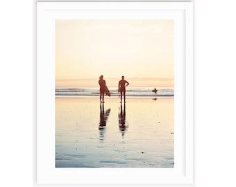 Surf Wall Art, Surfer Print, California Surf Print, Surf Wall Art, Surf Decor, Surf Room, Sunset, Beach Print, Large Beach Print, San Diego