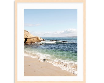 La Jolla Cove, San Diego Beach Art, Coastal Living, Beach Print California Coast, Large Coastal Print, La Jolla Beach Print, Turquoise Sea