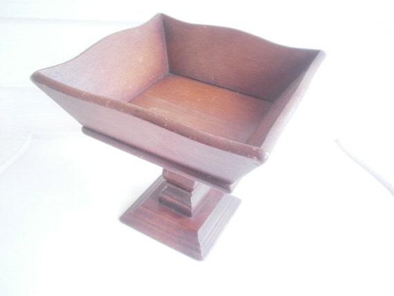 Vintage Holz Podest Tisch Herzstück Rustikale Schäbige Farm