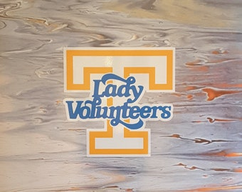 """Art PRINT University of Tennessee Lady Vols Decor 11x14"""" for office or game rooms VOLUNTEERS Knoxville TN Basketball Flow Art"""