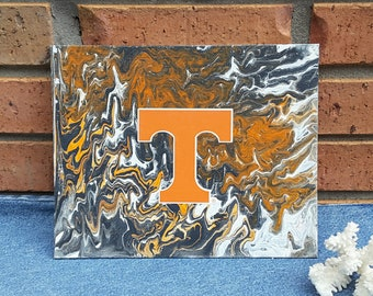 "UT Art University Decor for office or game rooms 8 x 10"" original painting #9"