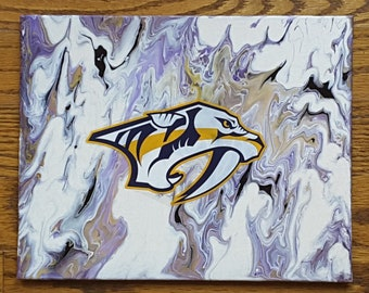"Smashville Predators Flow Art Original painting 8x10"""