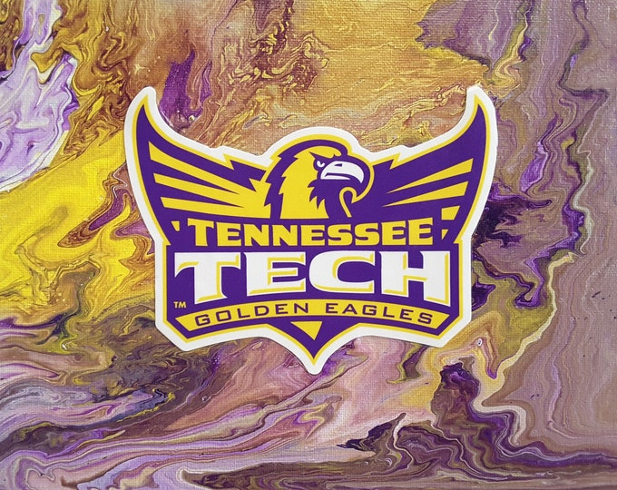 """Tennessee Tech Eagle Wings Up  Art PRINT #P3 8x10"""""""