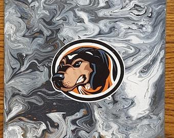 "Tennessee Vols Mascot Smokey Art 8 x 10"" original painting"