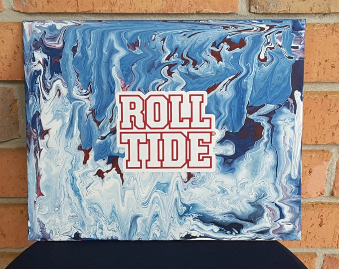 "ROLL TIDE Alabama University Art 8 x 10"" original painting"