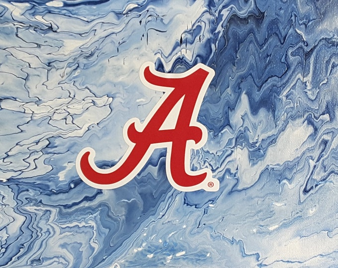 "Alabama ""A"" University Art 8 x 10"" Original painting #7"